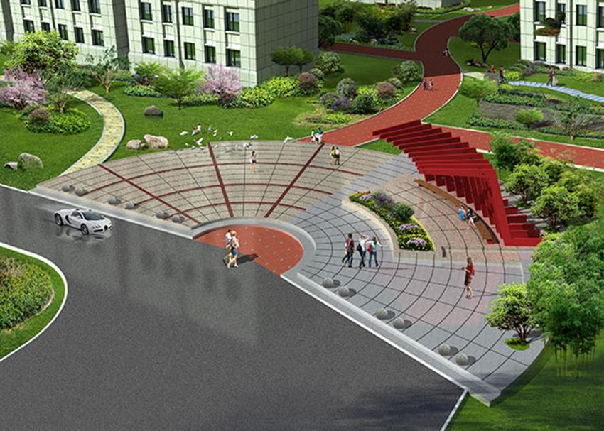 广场节点图效果图手绘